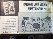 Vintage Very Rare Jaymar Specialty Co. Railroad And Village Construction Set NOS