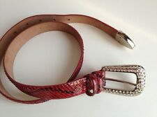 ORCIANI cintura donna pelle e pitone 75 cm woman belt red leather snake