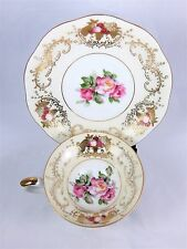 Vintage Del Mar Japan China Tea Cup And Saucer - Hand painted 24k Gold