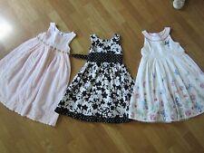 Lot Of 3 Girl Pink White Black Summer Dresses Size 4/5