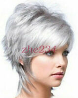 2015 Fashion wig New Charm Women's Short Silver Gray Full wig/wigs beauty