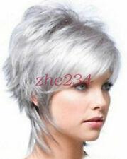 2015 Fashion wig New Charm Women's Short Silver Gray Full wig/wigs beauty