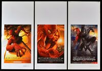 Lotto 3 Poster Spider Man Spiderman L'Uomo Spinne Maguire Dafoe Dunst