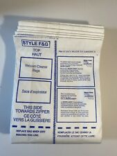 Vacuum Cleaner Disposable Dust Bags - Style F & G - Lot of 9 Bags