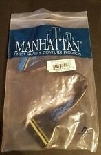 Manhattan MH IDE ATA100 Ultra Round Cable Black 2 Conn 10in Black 40-Pin 80-Wire