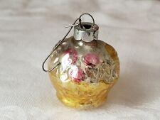 Vintage Christmas Ornament Basket Retro Collectible #1