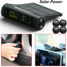 Solar Power TPMS Tyre Tire Pressure Monitor System + 4 Wireless External Sensors
