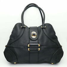 Alexander McQueen Novak Black Grained Leather Turnlock Shoulder Tote Bag Bag
