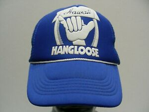 HAWAII - HANG LOOSE - TRUCKER STYLE ADJUSTABLE SNAPBACK BALL CAP HAT!