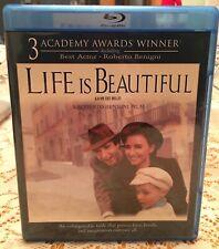 Life Is Beautiful Blu ray. Canadian Import. Reversible Artwork. Like New