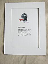 """Affenpinscher Dog Mounted Print 9x7"""" Art Picture Cartoon Humour Monkey Terrier"""