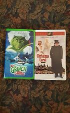 HOW THE GRINCH STOLE CHRISTMAS and A CHRISTMAS CAROL . VHS pre owned