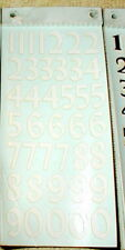 White Thin Racing Numbers Decals RUSSKIT #7120 Complete sheet slot car NOS