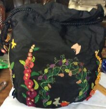 ANTIQUE/VINTAGE FELT DECORATED SEWING/ WORK BAG CIRCA: 1920's