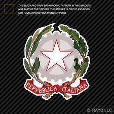 Italian Emblem Sticker Decal Self Adhesive Vinyl Italy flag ITA IT