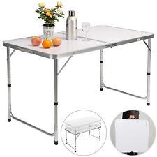 Mesa de camping plegable con asa para transporte de Aluminio altura ajustable