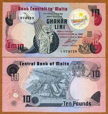 Malta, 10 Liri L.1967 (1979) Pick 36 UNC > Pre-Euro