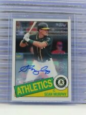 2020 Topps Silver Pack Sean Murphy 1985 Chrome Refractor RC Auto Athletics T6