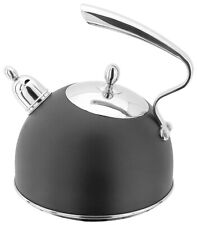 Stellar Stainless Steel Ebony Stove / Hob Top Kettle 2.5L Inductionable
