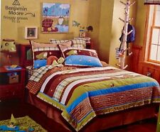 CIRCO BACKYARD FRIENDS 5pc FULL/QUEEN QUILT SET WALL CANVAS VALANCE TURTLE FROG