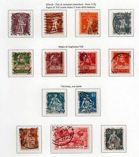 1916-22 SVIZZERA TELL+HELVETIA SERIE COMPLETA 13 VALORI USATI