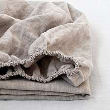 Simple&Opulence 100 Pure Natural Fitted Sheet Linen Double