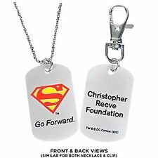 Superman Christopher Reeve Comics Pendant American Superhero KeyChain Necklace