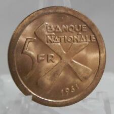 Katanga Africa 1961 5 Francs Coin C1657