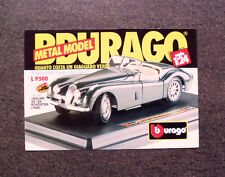I284-Advertising Pubblicità-1987- BBURAGO , JAGUAR XK 120 ROADSTER