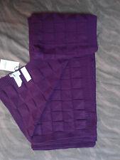 Plaid coton tricot neuf et étiquette