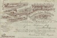 Braunschweigische Kohlen Bergwerke Helmstedt Aktie 1922 E.on Bergbau H. Stinnes