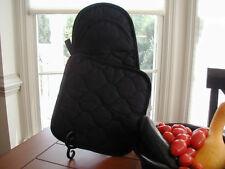 Black Pot Holder + Puppet Oven Mitt, Cotton Blend, Solid fabric