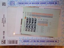 Microscale Decal N  #60-1156 Roadway 28' Trailers & Tractors (1990's+)