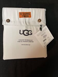 UGG Alahna Twin XL Stone Sheet 3 Pc Set OEKO-TEX STANDARD Cooling Technology NWT