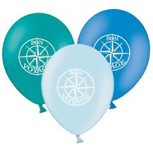 """Bon Voyage Compass Rose  12""""  Blue Assorted Latex Balloons pack of 20"""