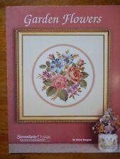 SERENDIPITY DESIGNS CROSS STITCH PATTERNS - GARDEN FLOWERS - BY HELEN BURGESS