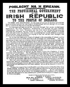 1916 PROCLAMATION EASTER RISING DUBLIN IRISH IRELAND EIRE METAL SIGN PLAQUE R120