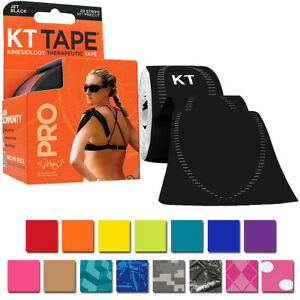 "KT Tape Pro 10"" Precut Kinesiology Therapeutic Elastic Sports Roll - 20 Strips"