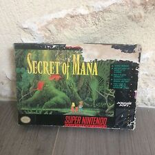 Secret Of Mana Super NES Nintendo SNES US en Boite SNSP-K2-USA NTSC Tested