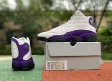 Jordan Retro 13 Lakers Mens - White/Black/Purple US 10