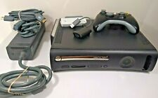 Microsoft Xbox 360 w/ Controller, Network Adapter, Power Cable 120GB HDD Working