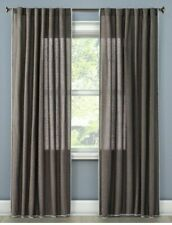 "Stitched Edge Curtain Panel Color Dark Gray Size (54""x95"")- Threshold"