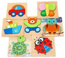Wooden Jigsaw Puzzles For Toddlers Kids 1 2 3 Years Old Educational Toys