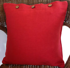 +Red Cushion Cover Scatter Bright Decorator Pillow Case Throw Couch Daybed Decor