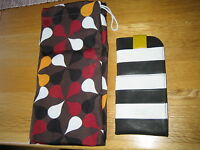 Yoshi Glasses Case Monochrome Stripe Marty Glasses Case BNWT & Yoshi Dust Bag