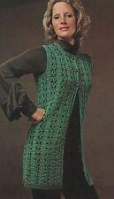 Lady's Long Line/Hippie/festival Crochet Waistcoat/Jacket. Crochet Pattern.