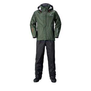 SHIMANO RA-027Q DS Fishing Suit XL Khaki Breathable Waterproof Japan Tracking