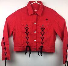 Stussy International Womens Corset Denim Red Size 10
