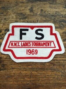 Vtg 1969 Ladies Tournament Felt Sew On Patch Yellowknife North West Territories