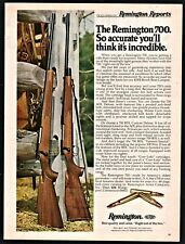 1976 Remington 700 & 700 Bdl Center Fire Rifle Photo Ad Vintage Advertising